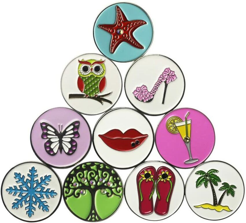Ladies Golf Ball Markers