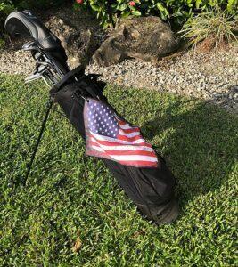 USA Flag Golf Towel On Bag