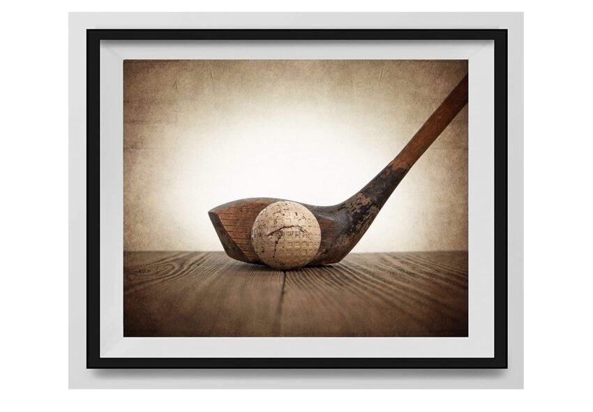 Vintage Wood and Ball Photo