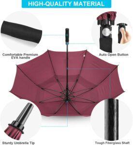 Extra Large Golf Umbrella Materials Wine