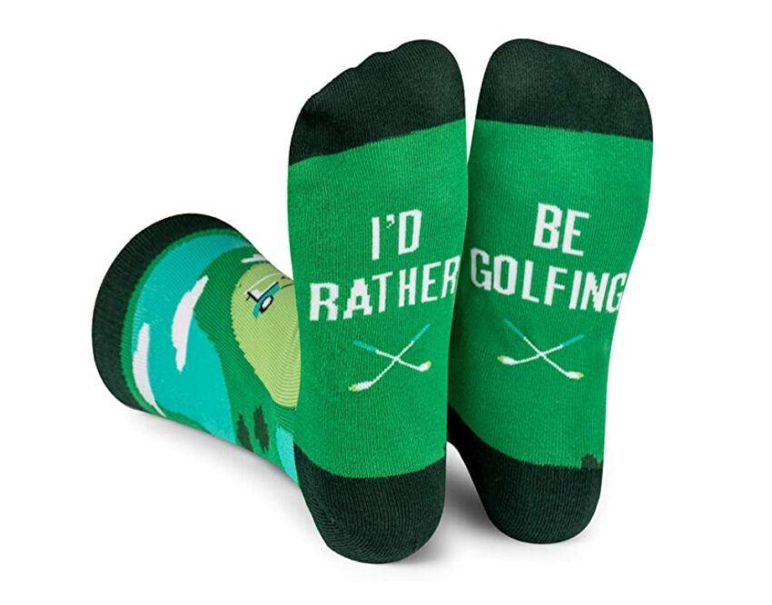 I'd Rather Be Golfing Socks
